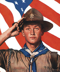 Norman Rockwell Boy Scout Salute