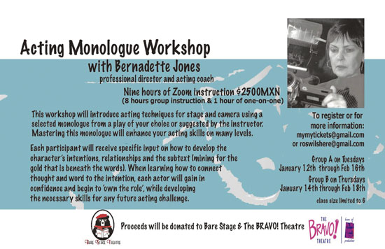 acting monologue workshop