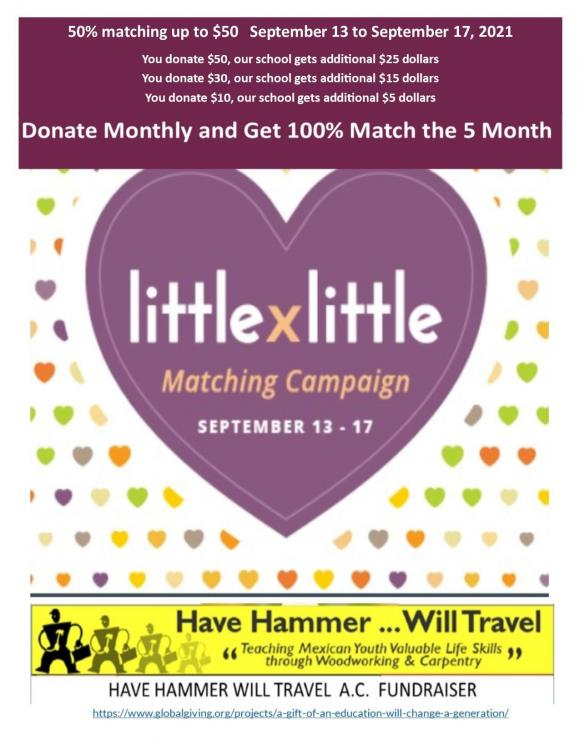 have hammer wil travel little by  little campaign globalgiving monthly.jpg